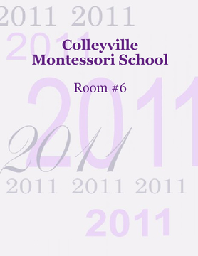 Colleyville Montessori School Room #6 Yearbook