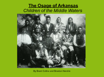 The Osage of Arkansas