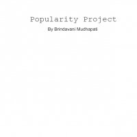 Popularity Project