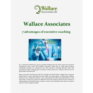 7 advantages of executive coaching - Wallace Associates