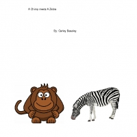 A Chimp meets A Zebra