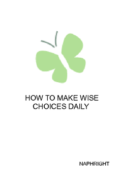 HOW TO MAKE WISE CHOICES DAILY