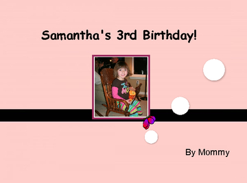 Samantha's 3rd Birthday