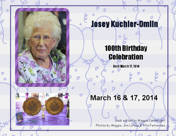 Josey Kuchler-Omlin 100th Birthday