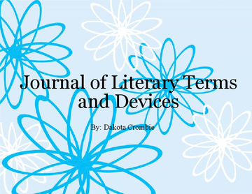 Journal of Literary Terms and Devices