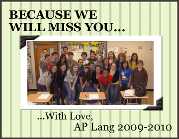 Because We Will Miss You...