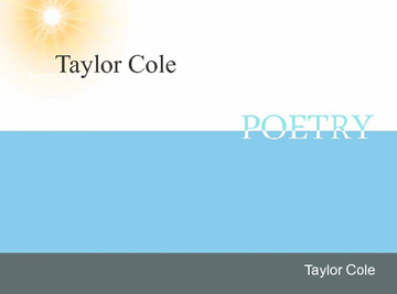 Taylor Cole Poetry Packet