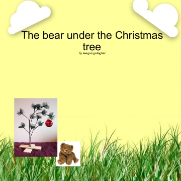 The bear under the Christmas tree