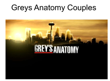 Greys Anatomy Couple