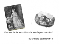What was life like as a child in the New England colonies?