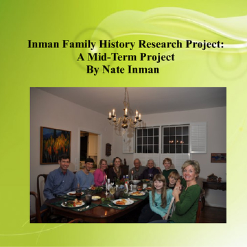 The Inman Family History