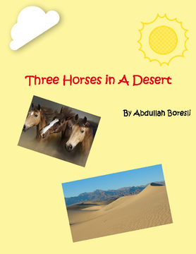 Three Horses in A Desert