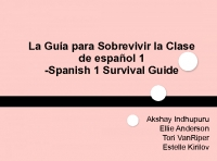 Spanish 1 Survial Guide