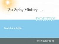 Six Strings and God