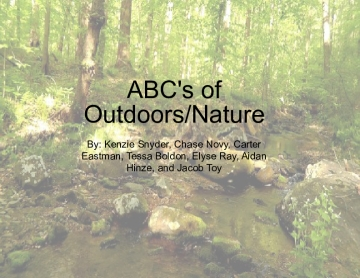 ABC's of Outdoors/Nature