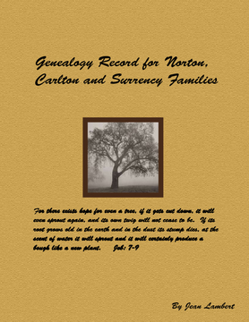 Family History for Norton, Carlton and Surrency