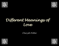 Different Meanings of Love