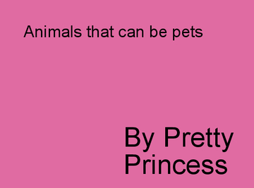 Animals For Pets