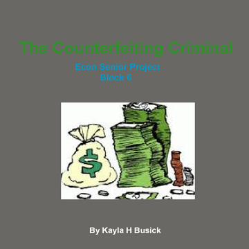 The Counterfeiting Criminal