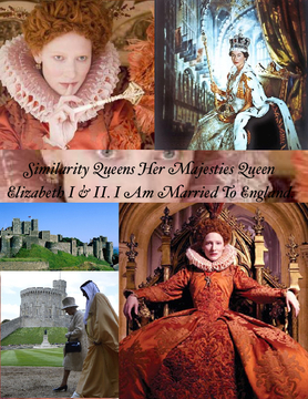 Similarity Queens Her Majesties Queen Elizabeth I & II.