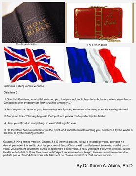 The Book Of Galatians In English & French