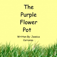 The purple flower pot