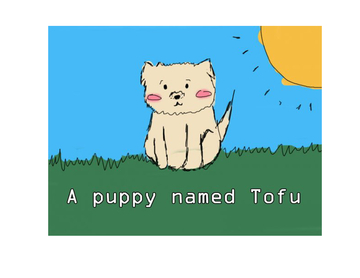 A dog named Tofu