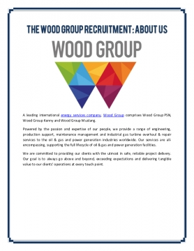 The Wood Group Recruitment: About Us