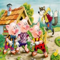 True story of the the  three little pigs.