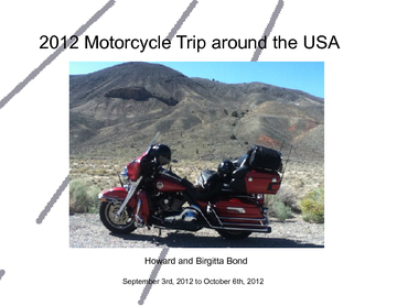 2012 Motorcycle Trip Around the USA