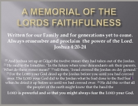 A Memorial of the Lords Faithfulness