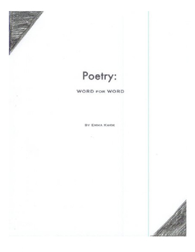 Poetry:  Word for Word