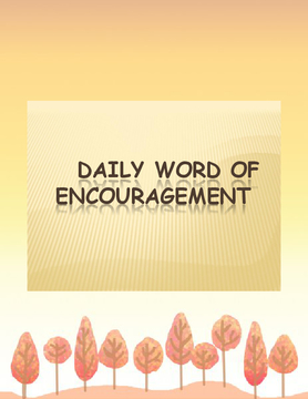 Daily Word of Encouragement