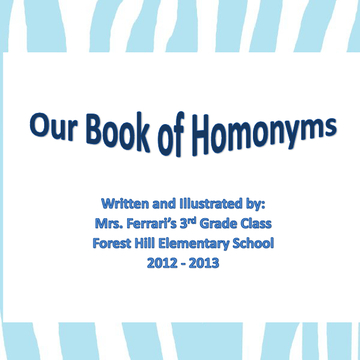 All About Homonyms