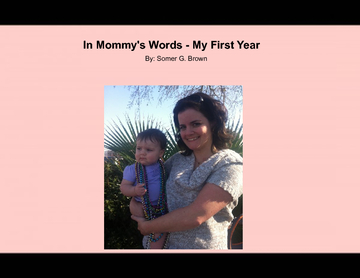 In Mommy's Words - Year 1