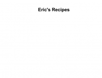 Eric's Recipes