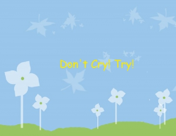 Don't Cry! Try!