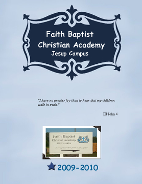Faith Baptist Christian Academy-Jesup campus