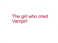 the girl who cried vampir