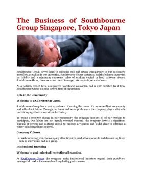 Southbourne Group Singapore, Tokyo Japan on Investments