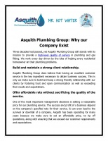 Asquith Plumbing Group