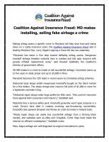 Coalition Against Insurance Fraud
