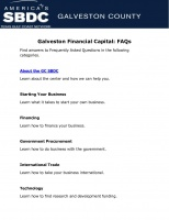 Galveston Financial Capital: FAQs