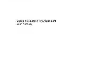 Module Five Lesson Two Assignment