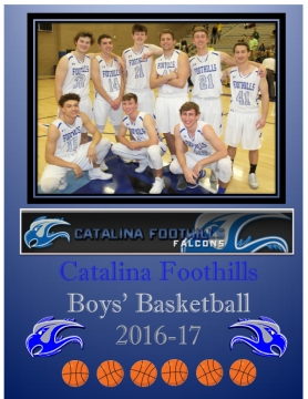 CFHS Boys Basketball 2016-17