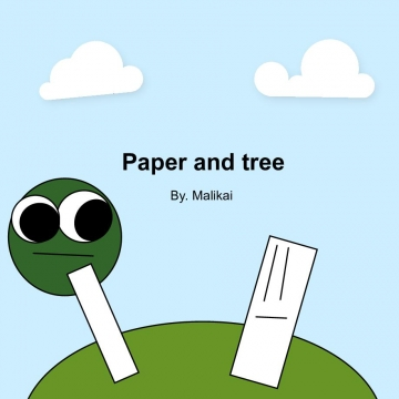 Paper and tree