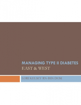 Managing Type 2 Diabetes: East & West