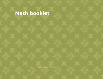Math booklet