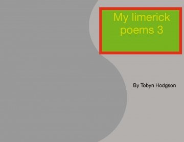 My limerick poem book 3