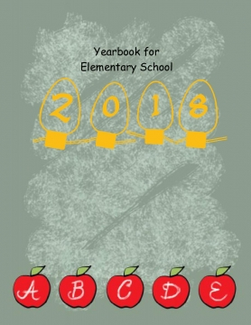 Yearbook Template 8.5x11 - Elementary